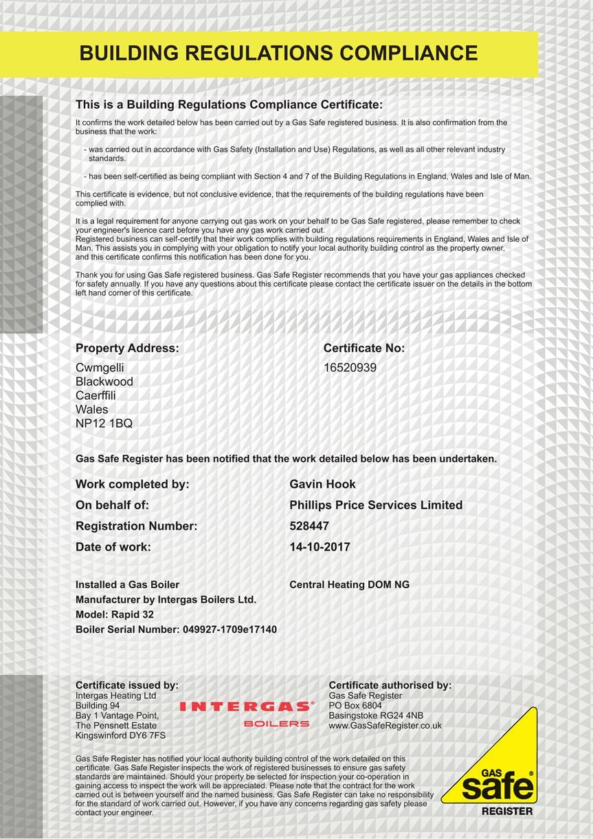 My Intergas Registration